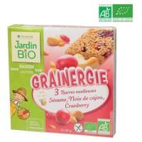 Barre Moelleuse Sésame Noix de Cajou Cranberry Sans Gluten Bio -75 g