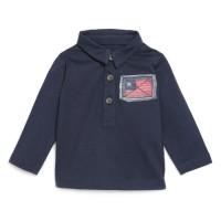 BEBE REVE Polo en jersey manches longues Marine