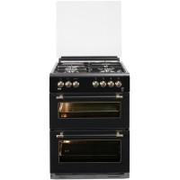 BEKO FDF63110DBR - Cuisiniere table mixte gaz / électrique - 4 zones - Double four électrique - 49 L - 38 L - A - L60 x H 85 cm