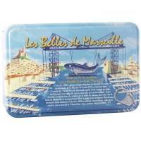 BELLES DE MARSEILLE Coffret Métal 4 Boites Sardines 1/6