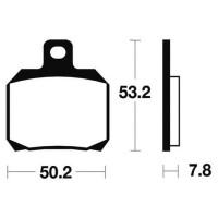 BENDIX Plaquettes de frein moto MA230 - Organique