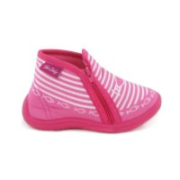BEONLY Chaussons Timousson ZIP - Enfant Fille - Rose