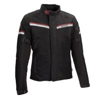 BERING Veste de moto Greenwich - Noir / Gris / Rouge