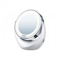 Beurer BS 49 Miroir cosmétique rotatif | avec lumiere LED et augmentation pour le maquillage | Beurer