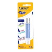 BIC - Lot de 3 Recharges pour stylo roller encre gel effaçable Gelocity Illusion - Rouge