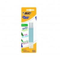 BIC - Lot de 3 Recharges pour stylo roller encre gel effaçable Gelocity Illusion - Vert