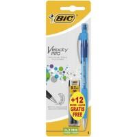 BIC - Porte-mines rechargeable 0,7 HB Velocity - Format spécial 1 +12 mines HB gratuites