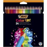 BIC Color Up Crayons de Couleur - Coloris Assortis, Etui Carton de 24