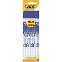 BIC Effaceurs Réécriveurs - Encre Bleue, Blister Maxi Pack de 12