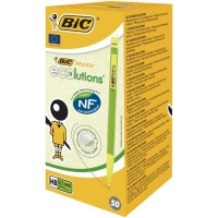 BIC Matic ECOlutions Porte-Mines 0,7 mm HB - Couleurs Assorties, Boîte de 50