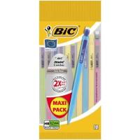BIC Matic Fun Porte-Mines 0,7 mm HB - Couleurs Assorties, Pochette de 10