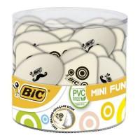 BIC Mini Fun Gommes Blanches - Formes Assorties, Tubo de 36
