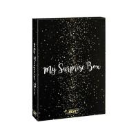 BIC My Surprise Box - Coffret Cadeau de 14Produits d'Écriture, 4Stylos-Bille/5Feutres Métallisés/ 5Stylos Gel, 1Bloc de Not
