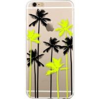 BIGBEN CONNECTED Coque Semi-Rigide Iphone 6 / 6S Palmiers - Transparente