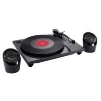 BIGBEN TD114NSPS Tourne disques glossy avec speakers PC encoding - Noir