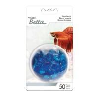 Billes de verre bleu pour aquarium