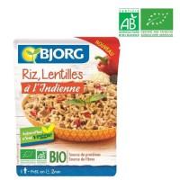 BJORG Riz Lentilles a l'Indienne Bio 220g