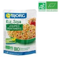 BJORG Riz Soja légumes Doypack Bio 250g