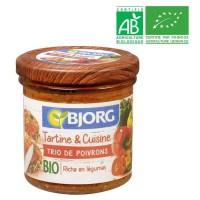 BJORG Tartine et Cuisine Trio de Poivrons Bio 135g