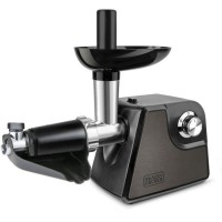 BLACK & DECKER BXMMA1000E Hachoir a viande 1000 W - Avec accessoires 2 vitesses + Reverse - Noir