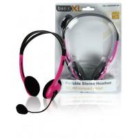 BasicXL casque stéréo rose