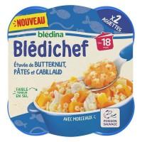 BLEDICHEF Butternut et cabillaud 2 x 250g