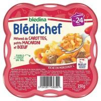BLEDICHEF Carottes macaronis et boeuf 250g