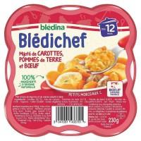 BLEDICHEF carottes pommes de terre et boeuf 230g
