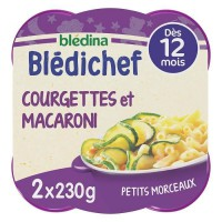 BLEDICHEF Courgettes et macaronis 2x230g