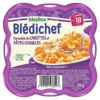 BLEDICHEF Farandole de carottes et pâtes 250g