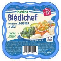 BLEDICHEF Fondue de légumes et lieu 250g