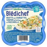 BLEDICHEF Risotto courgettes saumon et mozzarella 250g