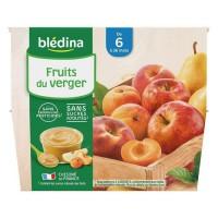 BLEDINA - Coupelles fruits du verger 8x100g