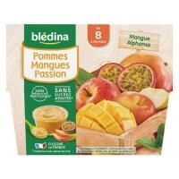 BLEDINA - Coupelles pommes mangue passion 4x100g