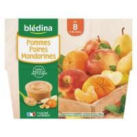 BLEDINA - Coupelles pommes poires mandarines 4x100g