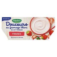 BLEDINA - Douceurs au fromage blanc et fraise 4x100g