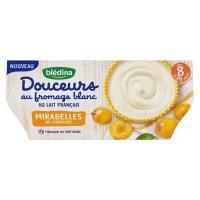 BLEDINA - Douceurs au fromage blanc et mirabelles 4x100g