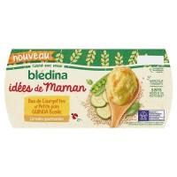 BLEDINA - Les idées de Maman céréales courgettes et petits pois 2 x 200g