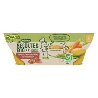 BLEDINA - Récolte BIO écrasé haricots verts carottes boeuf 2x200g