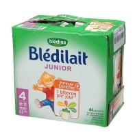 BLEDINA Blédilait junior Brique de lait - 6x1 L - 4eme âge de 18 mois a 3 ans