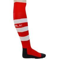 BLK Stripe Chaussettes - Rouge/Blanc