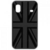 BLUEWAY Coque en silicone avec drapeau du Royaume-Uni en relief - Pour Samsung Galaxy ACE S5830 - Noire