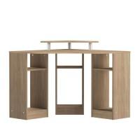 BOBBY Bureau d'angle contemporain décor chene - L 94 cm