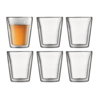 BODUM CANTEEN Set 6 verres double paroi 0.2 l Transparent