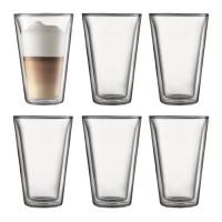 BODUM CANTEEN Set 6 verres double paroi 0.4 l Transparent