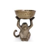 Bol avec singe doré - 14x10,5cm