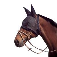 Bonnet en résille pour oreilles de cheval de trait - Noir