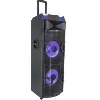 BOOST 15-6045BO Systeme mixage DJ Sound Box 500W MAX.W / BT, RC, Double USB, FM, LED
