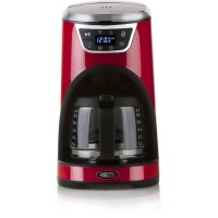 BORETTI B411 Cafetiere programmable - 1000W - 1,5 L : 12 tasses - Rouge