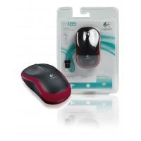 Logitech souris sans fil rouge M185